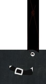 フリー素材 イラスト 魔女の帽子 ハロウィン タグ ハトメ