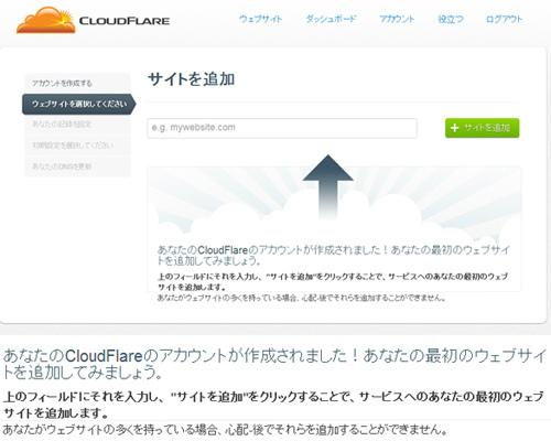 ClOUDFLARE ページの読み込み