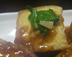 ずぼら主婦の簡単料理 『焼肉のタレで味付け 厚揚げの挟み焼き』簡単料理 作ってみた♪