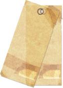 フリー素材 タグ クラフト 蝋紙 アンティーク調 サンプル画像