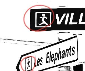 おフランスのピクトさん 標識