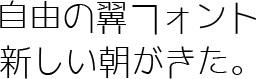 フォント M+FONT たぬき侍 自由の翼フォント