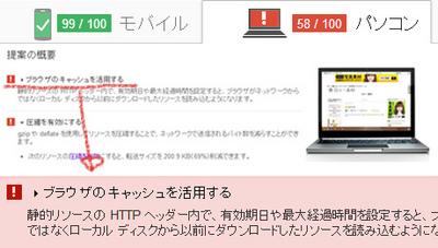 ページの読み込み時間のパフォーマンス PageSpeed Insights 有効期限が指定されていません ブラウザのキャッシュを活用する .htaccessファイル
