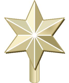 クリスマスツリーのてっぺんに飾る星