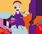 フリー素材 イラスト キャラクター ハロウィン ゾンビ ギャル サンプル画像