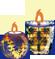 クリスマス素材 クリスマスキャンドル ティアラ オーナメント リンク用画像 アイコン