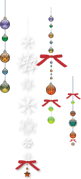フリー素材 イラスト クリスマス オーナメント ガラス リボン サンプル リンクアイコン