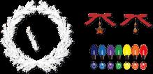 クリスマス クリスマスリース 電飾 リボン チャーム まめ電 カスタマイズセット まめ電 チャーム付きリボン イラスト フリー素材 リンクアイコン