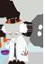 フリー素材 イラスト アイコン キャラクター ハロウィン マッドサイエンティスト サンプル画像