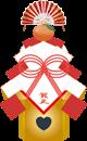 フリー素材 イラスト スイーツ 鏡餅 マカロン シュークリーム 正月 水引