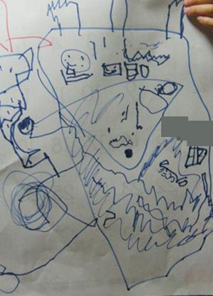 甥っ子 宝の地図 落描き