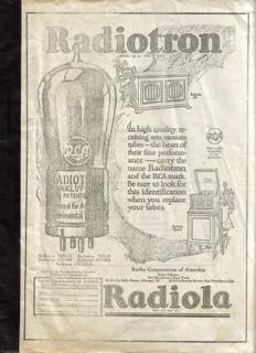 謎冊子 Radiotron Radiola 製本テープ