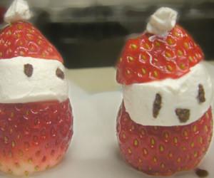 クリスマス サンタ 生クリーム いちご かわいい