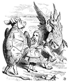Alice par John Tenniel 35 パブリックドメイン 著作権消滅済 不思議の国のアリス 偽ウミガメ 代用ウミガメ ジョン・テニエル