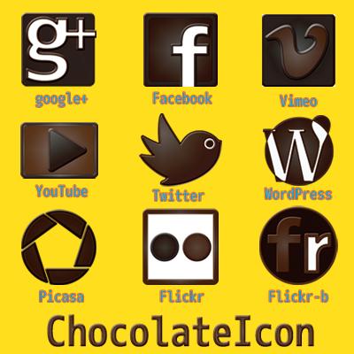 バレンタインデー素材 チョコレートアイコン SNS サンプル