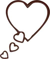 バレンタイン素材 チョコペン吹き出し 50
