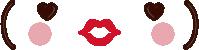 バレンタイン素材 チョコペン顔文字