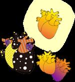 ドキドキ☆ポップなハート(心臓)4種《ハロウィン》配布とWordPress忘備録