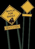 ハロウィーン仕様標識素材《WATCH FOR GHOST(テキスト有り無し)》配布とパーリー後Zoffで衝動メガネした話