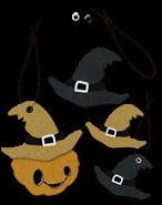ハロウィン素材タグセット《魔女の帽子(+ストラップ、ハトメ)》配布と使い方